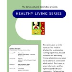 Healthy living series poster