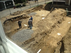 View of excavation from the Minister's office June 6, 2013