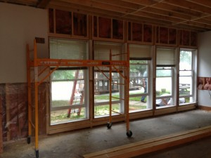 View of relocated windows in Stokey from the inside