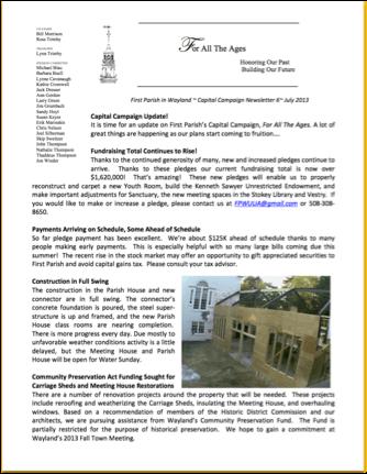 CC newsletter screen shot