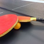 Table tennis (ping pong) table.