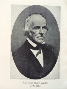 Rev. Wight was the last minister to serve both the town and the parish. He went on to become superintendent of schools.