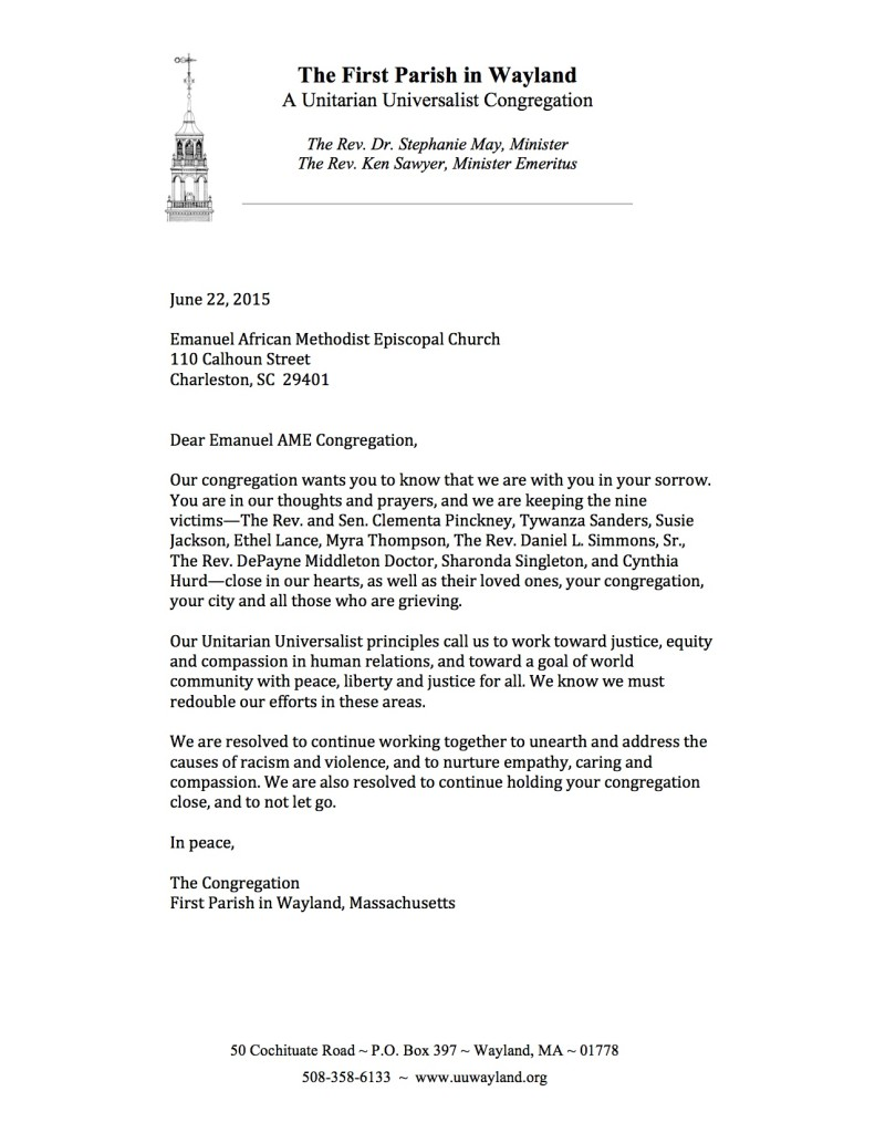 Letter to Emanuel AME church JPG