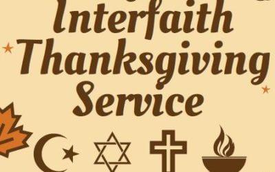 Annual Interfaith Thanksgiving Service