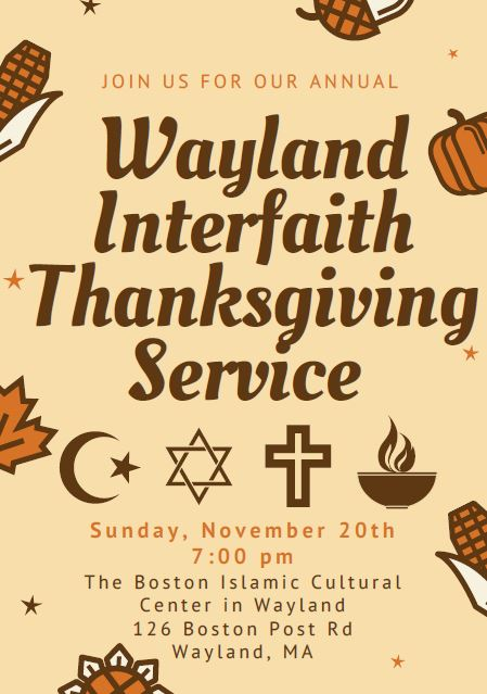 Annual Interfaith Thanksgiving Service
