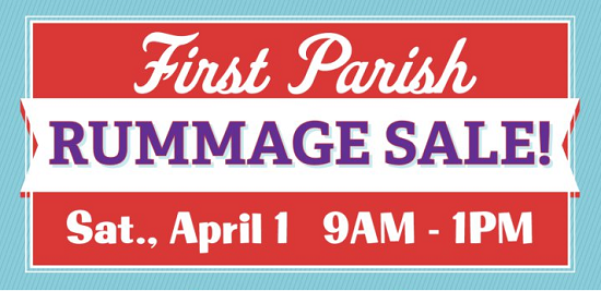 No foolin'! Our 74th Annual Rummage Sale is Upon Us!